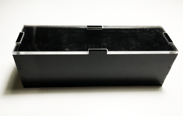 Black polished acryl enclosure case for LW-Clok